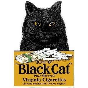 Black Cat Cigarettes Porcelain Refrigerator Magnet