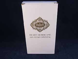 Shannon Lead Crystal Heart Hurricane Votive Candle New