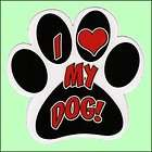 Humorous Paw Print Peace, Love and Muddy Paws Magnet