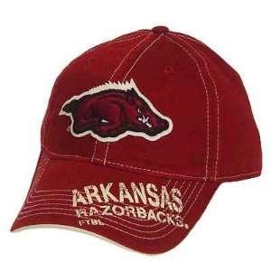 NCAA ARKANSAS RAZORBACKS RED MAROON VELCRO CAP HAT Sports