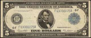 DOLLAR BILL FEDERAL RESERVE NOTE ATLANTA Fr 867 OLD PAPER MONEY