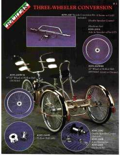 Bicycle Bike to Tricycle Trike Conversion Kit Chrome