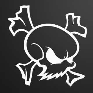 Tribal Decal Sticker Skull Crack Car Window ZE556