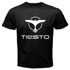 DJ Tiesto Trance Music Logo Mens Black T Shirt All Size
