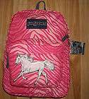 Girls Horse Backpack~Pink Animal Print~WHITE HORSE~JanSport~NWT~Pinks