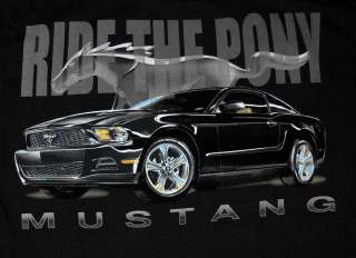Ford Mustang Ride The Pony Automobile Car T Shirt Tee