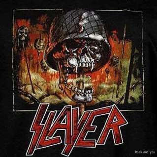 SLAYER Impaled Skull thrash metal rock T Shirt S NWT
