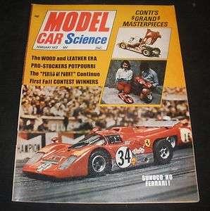 Model Car Science Magazine 2 1972 Slot cars Model kits