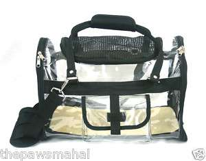 Transparent Airline Approved Dog Cat Pet Carrier Tote