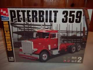 AMT Peterbilt 359 Semi Truck Tractor 125 # 31005 Model Kit 2002 NEW
