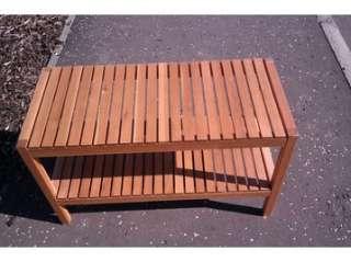 IKEA MOLGER Bench, brown, solid wood/birch, Bathroom Shelf water