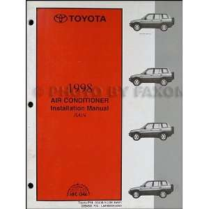 Toyota RAV4 Air Conditioner Installation Manual Original Toyota