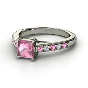 Avenue Ring, Princess Pink Tourmaline 14K White Gold Ring