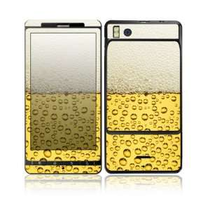 Beer Design Decorative Skin Cover Decal Sticker for Motorola Droid