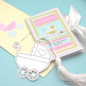 Marked with Love Baby Carriage Bookmark Shower Favor