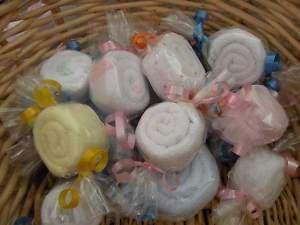 Washcloth candy baby shower favor boy girl diaper cake