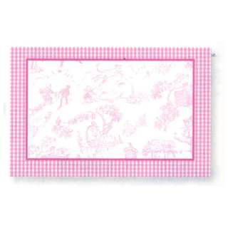 PINK Toile Baby Shower Name Tags girl/boy party supplies favors games