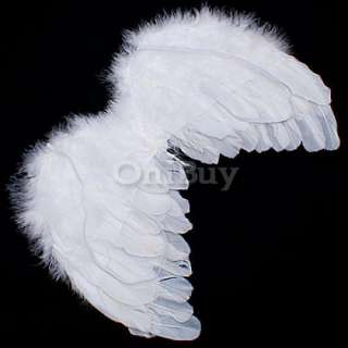 Fairy Angel Feather Wings Halo Baby Photo Props 6 18mo [SKU 12