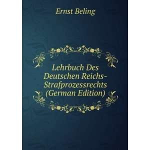 (German Edition) (9785874820787): Ernst Beling: Books