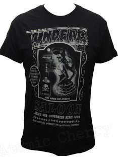Too Fast Undead Saloon Mens T Shirt Zombie Rockabilly Punk Retro