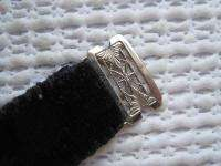 Gorgeous 14kt solid white gold and inlaid enamel lady Art Deco 1920s