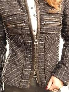 BN Isabel Marant Black Woven Wool Jacket UK8