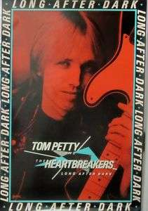 Tom Petty   LONG AFTER DARK [1982] Promo Poster VG++