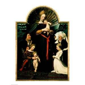 Madonna of the Burgermeister Meyer   Poster by Hans Holbein (18x24)