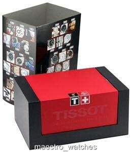 Tissot Chronograph SS Men Watch Black Dial PRS200 Sapphire Crystal