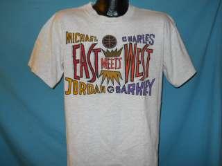 vtg NIKE CHARLES BARKLEY VS MICHAEL JORDAN t shirt L