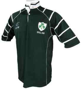 Ireland Breathable Irish Rugby Shirt Dark Green. Live For Rugby