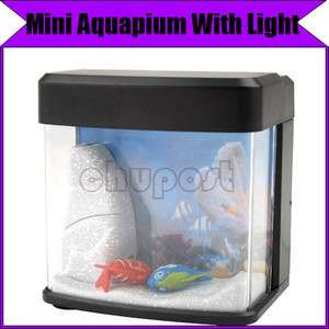 Mini USB /Battery Powered Aquarium with LED Light