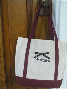 MONOGRAMMED Canvas Tote Bag Personalized Gift