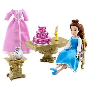 Disney Princess Beauty & Beast Mini Belle Doll Play Set W/ Extra