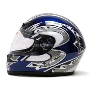 Full Face Motorcycle Helmet Sport Bike Race Flag (XLarge) Automotive
