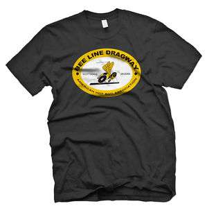 BEE LINE DRAGWAY 1964 STYLE HOT ROD DRAGSTER T SHIRT