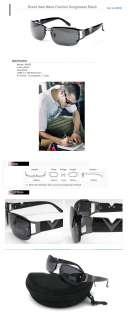 NEW Mens Man Fashion Sunglasses Black Frame Lens with Case BK500