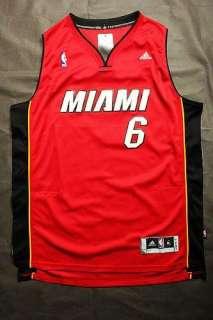 LEBRON JAMES #6 MIAMI HEAT NBA REVOLUTION 30 JERSEY RED