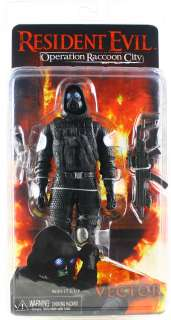 RESIDENT EVIL NECA OPERATION RACCOON CITY VECTOR 7 ACTION FIGURE