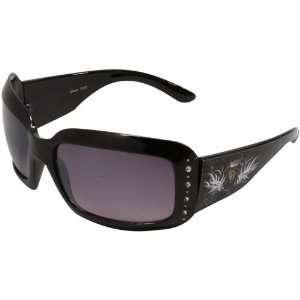 Buffaloes Ladies Black Crown Rhinestone Sunglasses