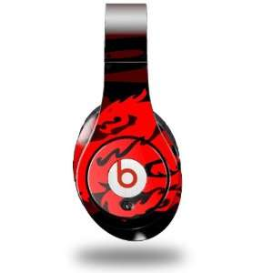 Dragon Red on Black Decal Style Skin (fits genuine Beats Studio