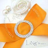 Silver/Gold Wedding Chair Sash A GRADE Diamante Buckle