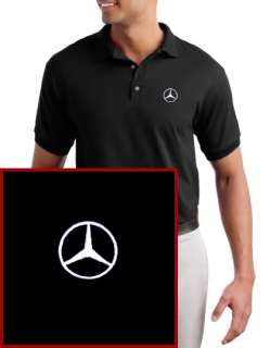 Mercedes Benz EMBROIDERED Black Polo Shirt