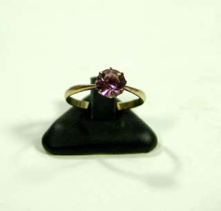 ART DECO RUSSIAN GOLD SILVER CROWN AMETHYST LADIES RING