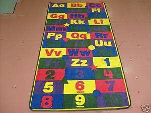 ABC123   3x6 Educational rug school daycare child fun