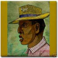 Diego Rivera Mexico Ceramic Art Tile Man in Panama Hat