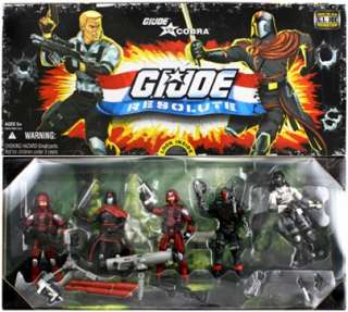 Joe vs. Cobra Resolute 5 Pack GI Joe Action Figure Toy Set