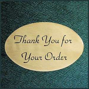 OVAL 1.25X2 GOLD THANK YOU STICKERS Roll of 500