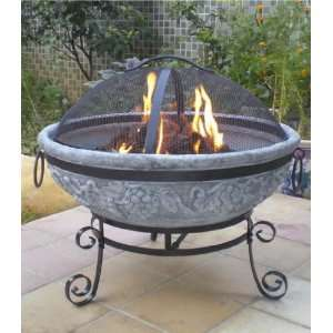 Blue Rooster Grape Gas Fire in Gray: Patio, Lawn & Garden