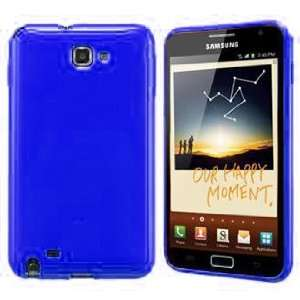 Navitech Blue TPU Hard Case Cover For Samsung Galaxy Note